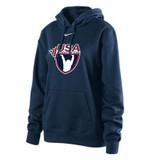 Nike Women's USAW Club Fleece Hoody - Navy