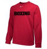 Nike Club Boxing Fleece Crew - Red / Black
