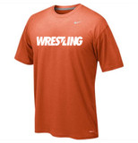Nike Dri Fit Wrestling Legend SS Tee - Orange / White