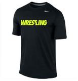Nike Dri-Fit Wrestling Legend Tee - Black / Volt