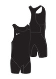 New - Nike Men's Weightlifting Singlet - Black / Black