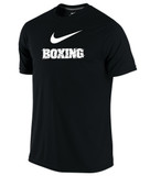 Nike Men's Dri-Fit Cotton Boxing Tee - Black / White