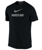 Nike Men's Dri-Fit Cotton Wrestling Tee - Black / Reflective