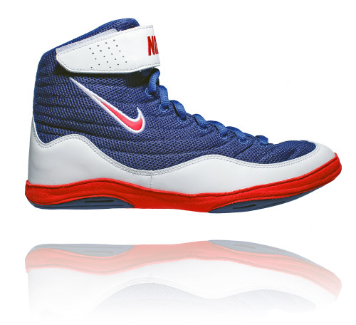 Home · Wrestling; Nike Inflict 3 - Deep Royal / University Red / White.  Image 1