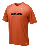 Nike Dri-Fit  Wrestling Legend Tee - Orange / Black