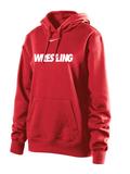 Nike Women's Wrestling Club Hoody  - Red / White