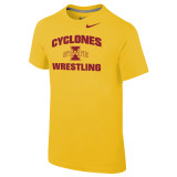 Nike Boy's Classic Cotton S/S Iowa State Tee - Univ Gold