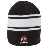 "Nike 8"" Swoosh Striped Ohio State Beanie - Black"