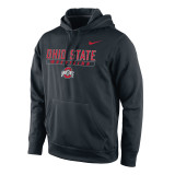 Nike Men's Therma-Fit KO Ohio State Pullover - Black
