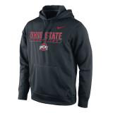 Nike Men's Therma-Fit KO Ohio State Pullover - Black