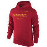 Nike Boy's Therma-Fit KO Iowa State Hoody - Crimson