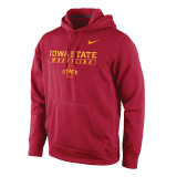 Nike Men's Therma-Fit KO Iowa State Pullover - Crimson