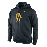 Nike Men's Therma-Fit KO University of Iowa Pullover - Black