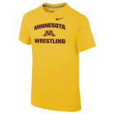 Nike Boy's Classic Cotton S/S Univ of Minnesota Tee - Univ Gold