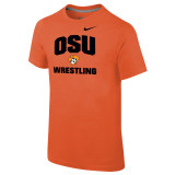 Nike Boy's Classic Cotton S/S Oklahoma State Tee - Team Orange