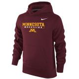 Nike Boy's Therma-Fit KO Univ of Minnesota Hoody - Dark Maroon
