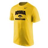 Nike Men's Core S/S Univ of Iowa Tee - Univ Gold