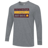 Nike Men's Core L/S Univ of Minnesota Tee - Dark Heather