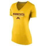 Nike Women's Dri-Fit V-Neck S/S Univ of Minnesota Tee - Univ Gold