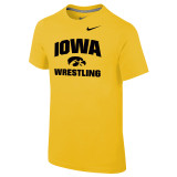 Nike Boy's Classic Cotton S/S Univ of Iowa Tee - Univ Gold