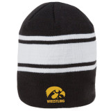 "Nike 8"" Swoosh Striped Univ of Iowa Beanie - Black"