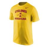 Nike Men's Core Short Sleeve Iowa State Tee - University Gold
