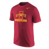 Nike Men's Core Short Sleeve Iowa State Tee - Team Crimson