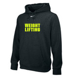 Nike Team Club Weightlifting Hoody - Black / Volt
