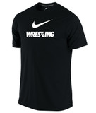 Nike Men's Dri-Fit Cotton Wrestling Tee - Black / White
