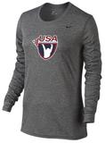 Nike Women's LS Legend Tee USAW - Grey