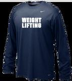Nike Weightlifting LS Legend Tee - Navy / White