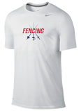 Nike Fencing Dri Fit Cotton Tee - Swords