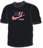 Nike Fencing Cotton Tee - USA Flag