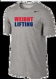 Nike Weightlifting Dri Fit Cotton Tee - Split / Grey