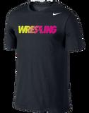 Nike Wrestling Dri Fit Cotton Tee - Black / Volt / Pink