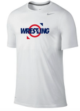 Nike Wrestling Dri Fit Cotton Tee -  Ring / White