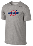 Nike Wrestling Dri Fit Cotton Tee -  Ring / Grey