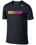Nike Boxing Dri Fit Cotton Tee - Black / Volt / Pink