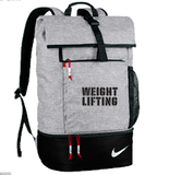 Nike Weightlifting Roll Down Backpack - Black / Grey