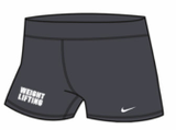 Nike Women's Weightlifting 3 Inch Short - Grey