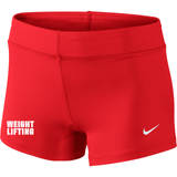 Nike Women's Weightlifting 3 Inch Short - Red
