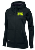 Nike Women's Weightlifting KO FZ Hoody - Black