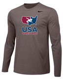 Nike Men's USAWR Team Legend Training Tee Long Sleeve - Grey