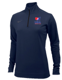 Nike Women's USAWR 1/2 Zip Training Top - Navy