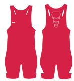 Nike Grappler Elite Wrestling Singlet - Scarlet / White