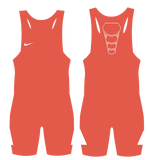 Nike Youth Grappler Elite Wrestling Singlet - Orange / White