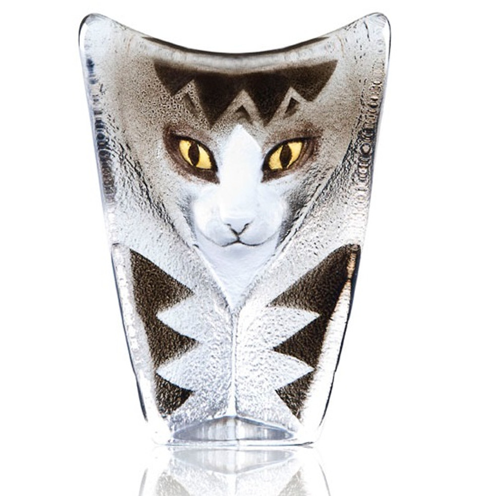 Cat Crystal Sculpture | 34219 | Mats Jonasson Maleras