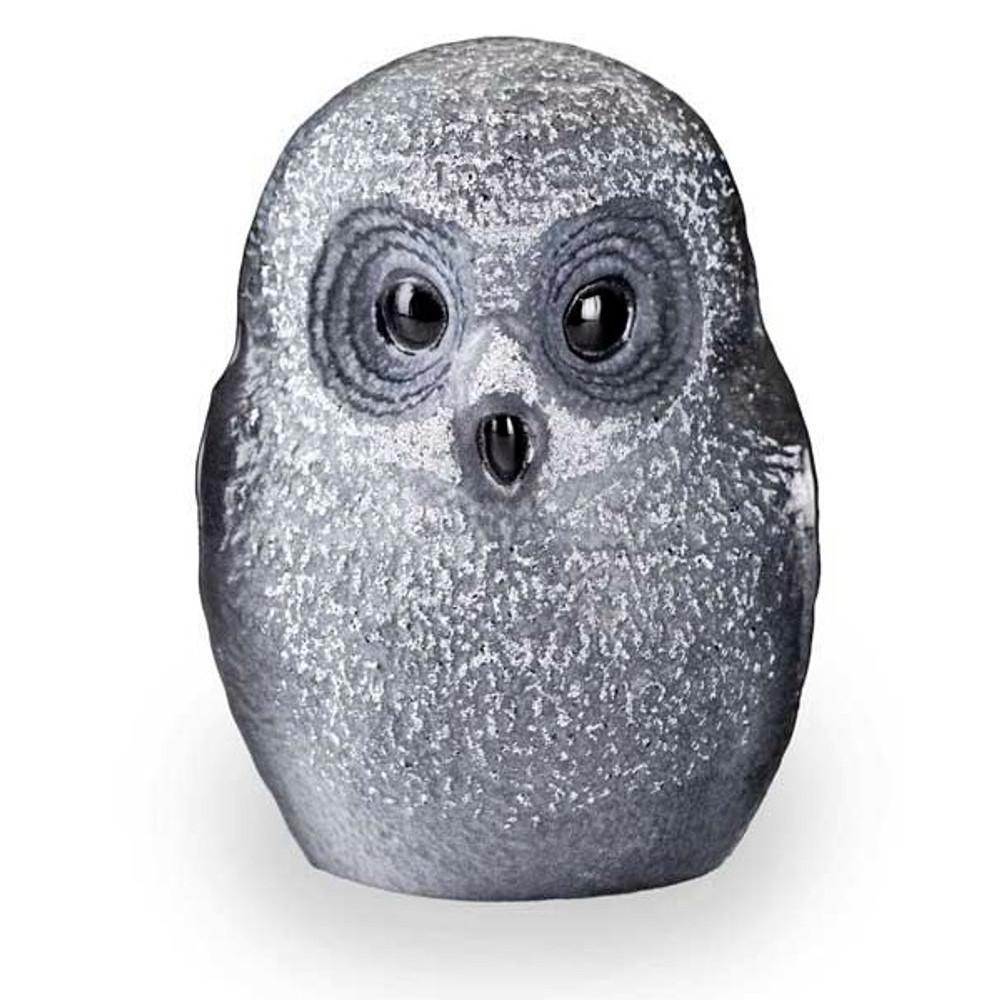 Owl Black Crystal Sculpture   34052   Mats Jonasson Maleras-1