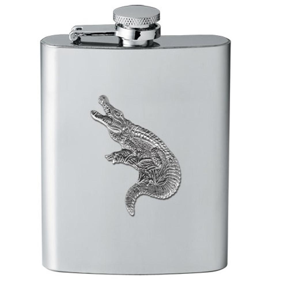 Alligator Flask | Heritage Pewter | HPIFSK3770