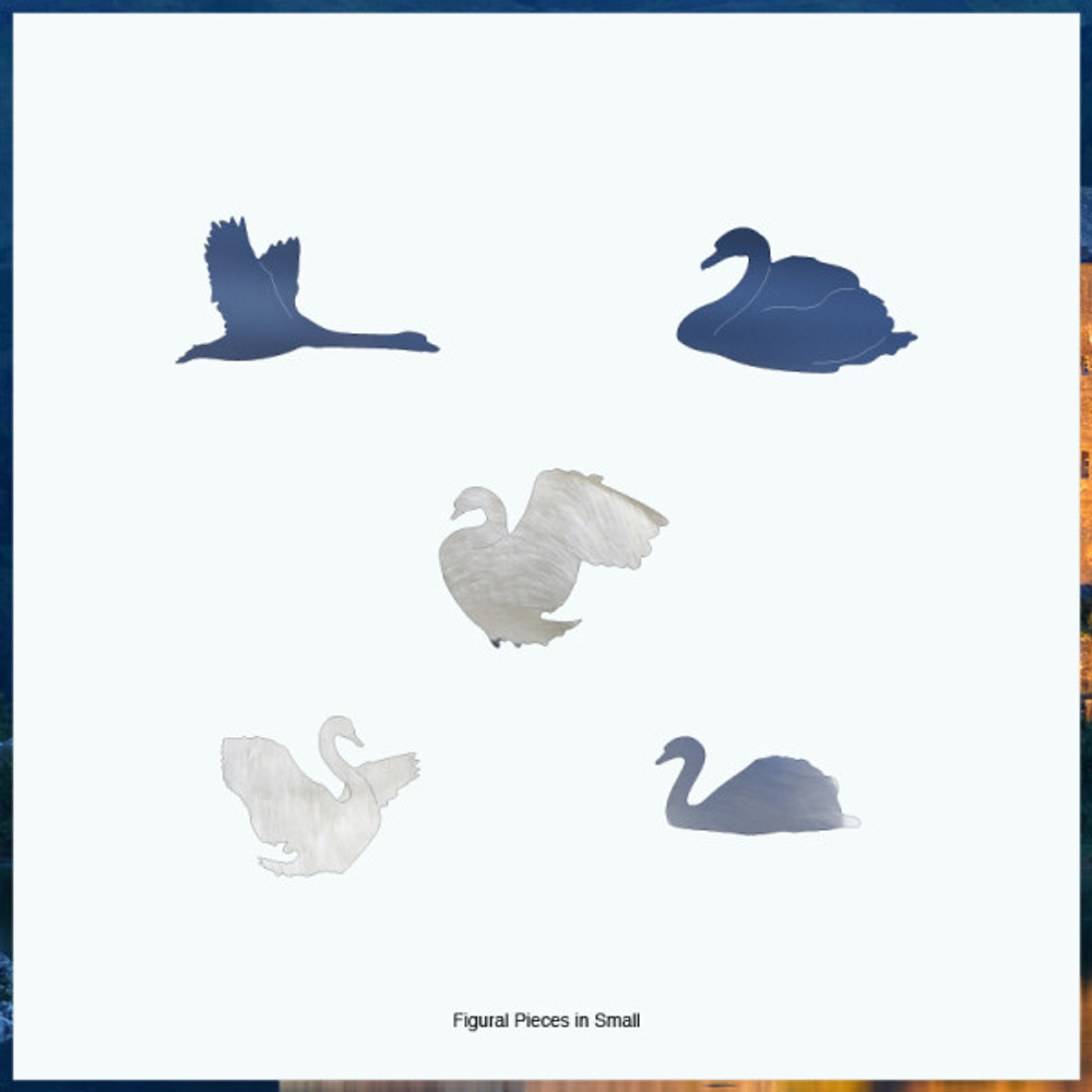 White Swan Artisanal Wooden Jigsaw Puzzle | Zen Art & Design | ZADWHITESWAN